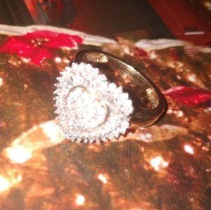 Beautiful Heart Shape Diamond Ring(14k)